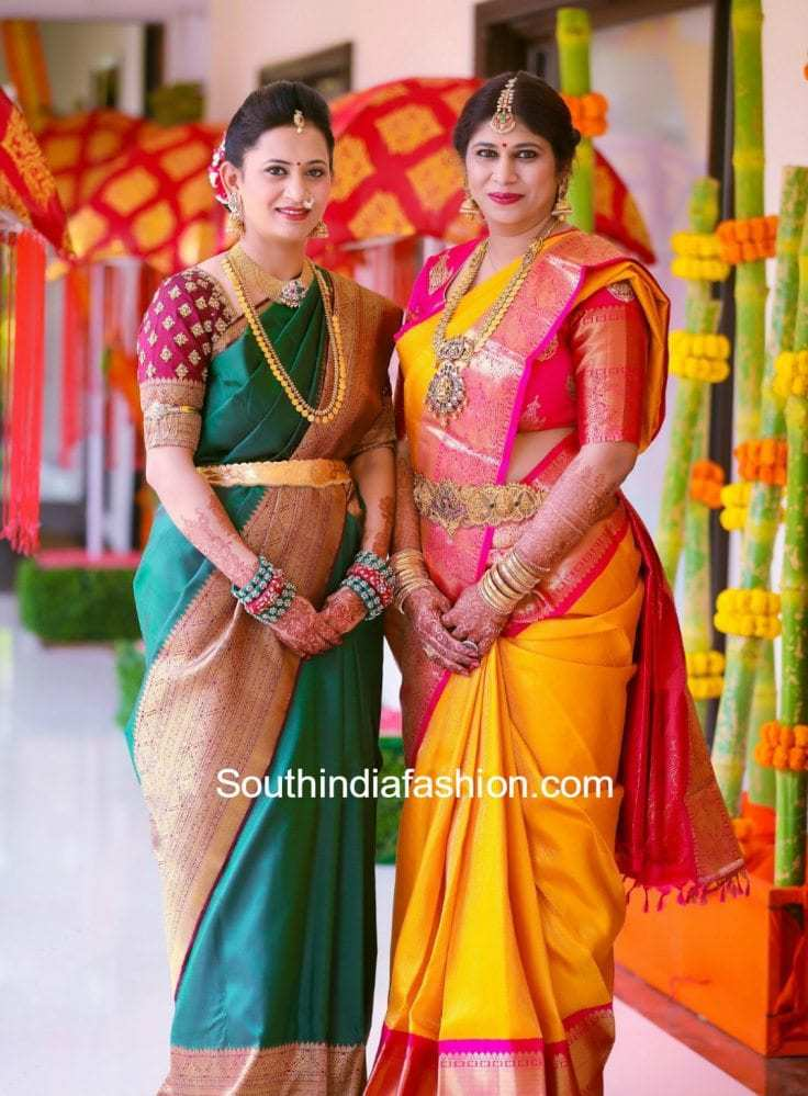 Grand Half Saree Ceremony Of Hiyaa South India Fashion