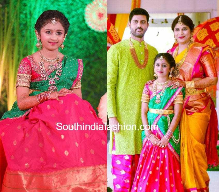 jewellery-designer-hiya-swetha-reddy-daughter-half-saree-function