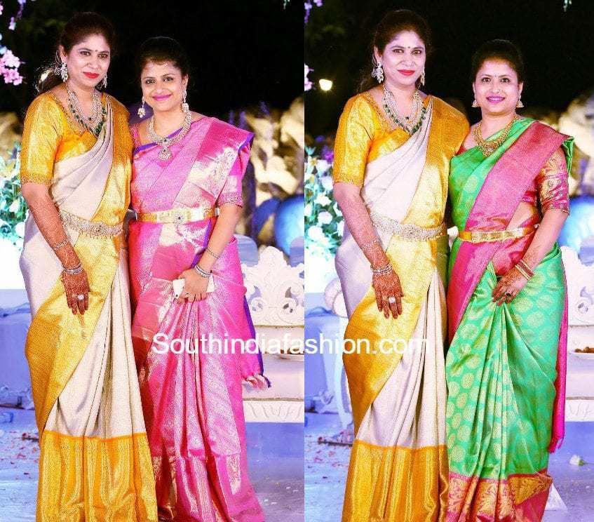 jewellery-designer-swetha-daughter-half-saree-function
