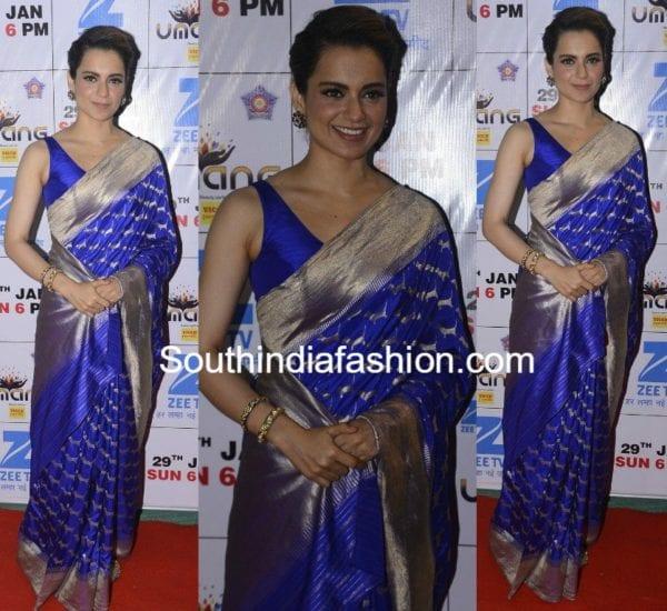 banarasi saree with sleeveless blouse