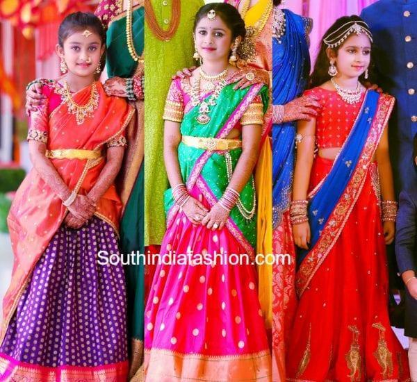 Kids Designer Half Sarees South India Fashion