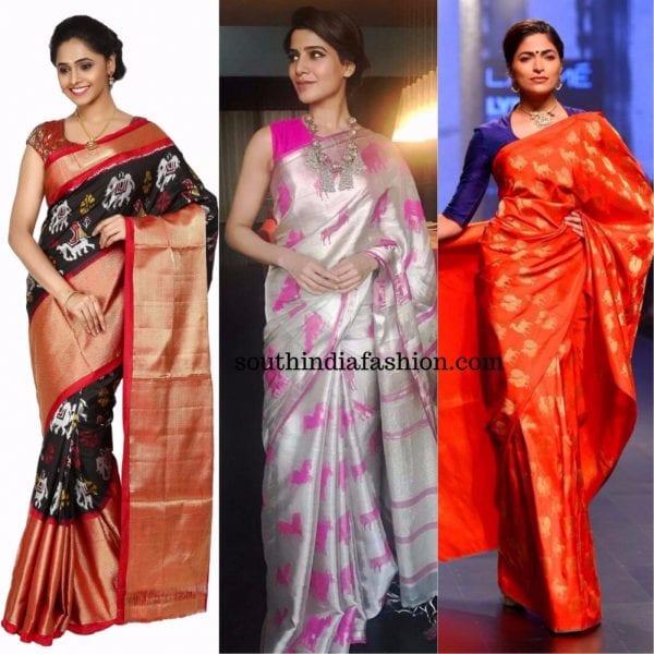 quirky motif sarees animal motif 600x600