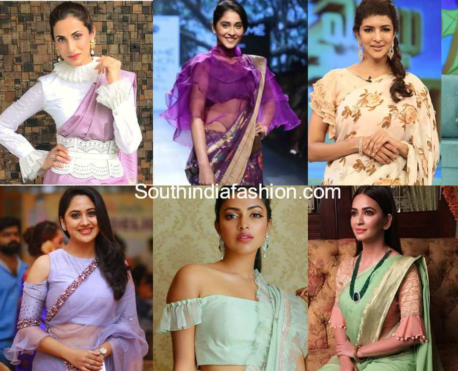ruffle blouses for sarees
