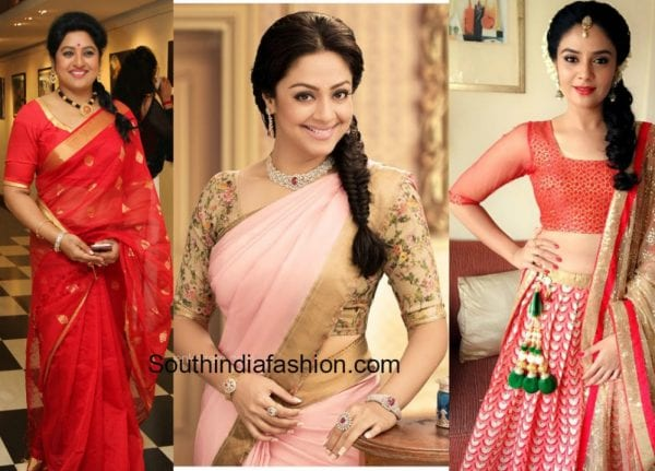 saree-blouse-sleeve-design-for-bulky-fat-arms