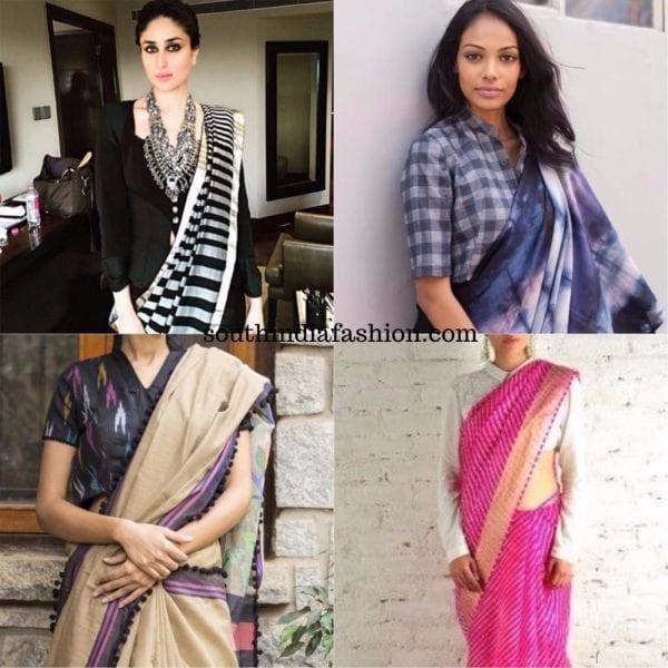 shirt blouses for sarees 600x600