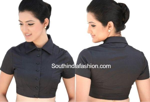 plain collar neck blouse