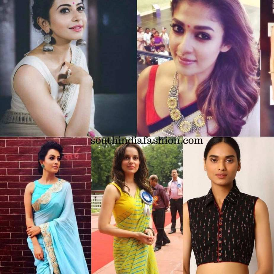sleeveless blouses for sarees