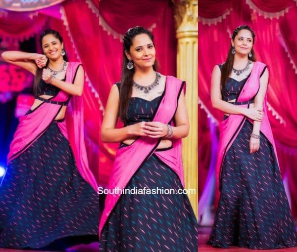 Anasuya Bharadwaj in Duta Couture