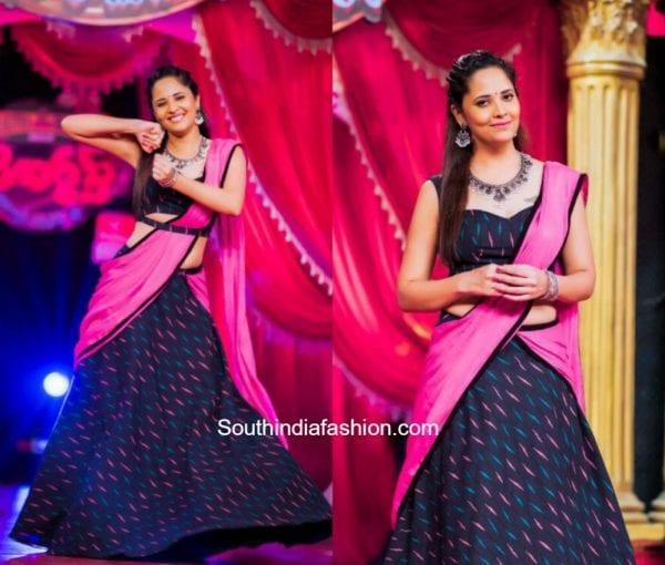 Anasuya Bharadwaj in Duta Couture at a TV Show