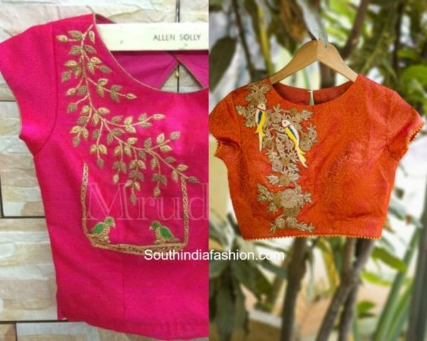 Animal Embroidered Blouse Designs 4 600x479