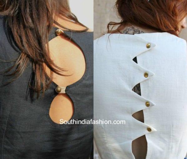 Button Back Blouse Designs 1 600x509