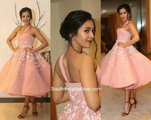 Catherine Tresa in a pink dress at Jio Filmfare Awards