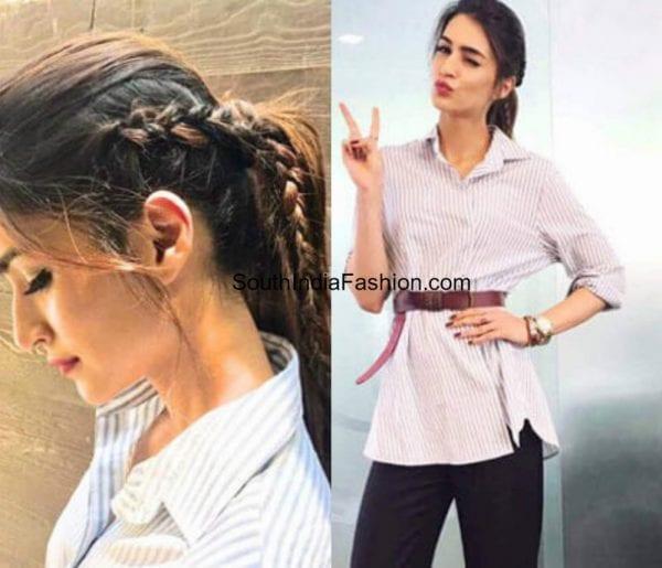 kriti-sanon-braid-ponytail