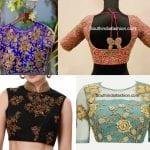 Evergreen Floral Zardosi Blouse Designs