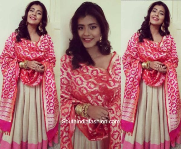 Hebah Patel in Bhargavi Kunam at an event in Bangalore