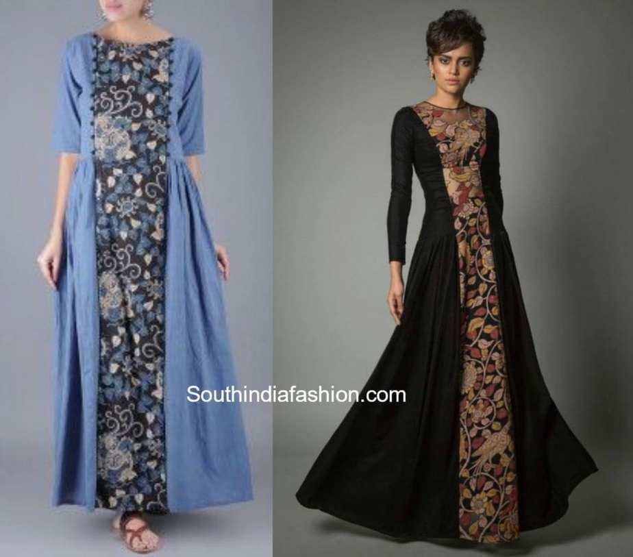 365f0fd5cc0 Flaunt The Kalamkari Maxi Gowns – South India Fashion