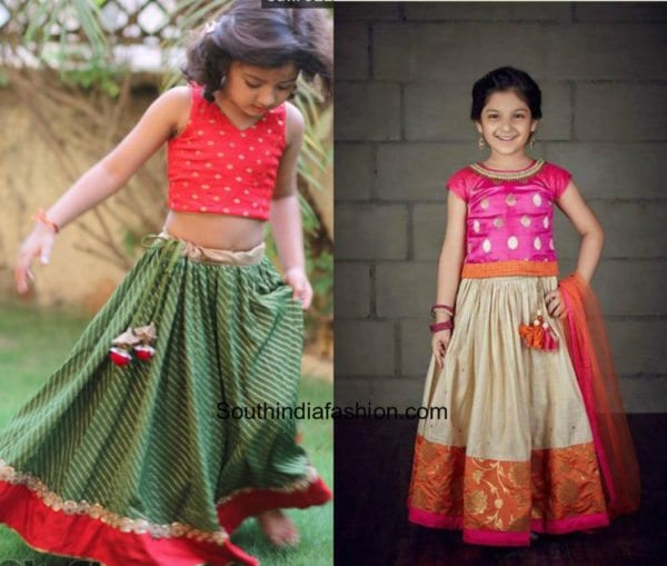 Kids Pattu Pavadai Designs 1