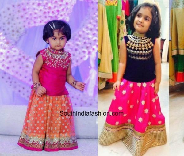 Kids Pattu Pavadai Designs 3