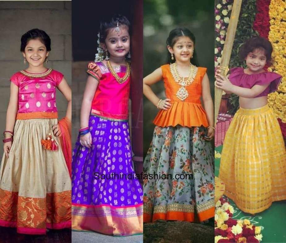 20d3cc11fcc8f Kids pattu pavadai designs south india fashion jpg 999x849 Latest pattu  langa designs