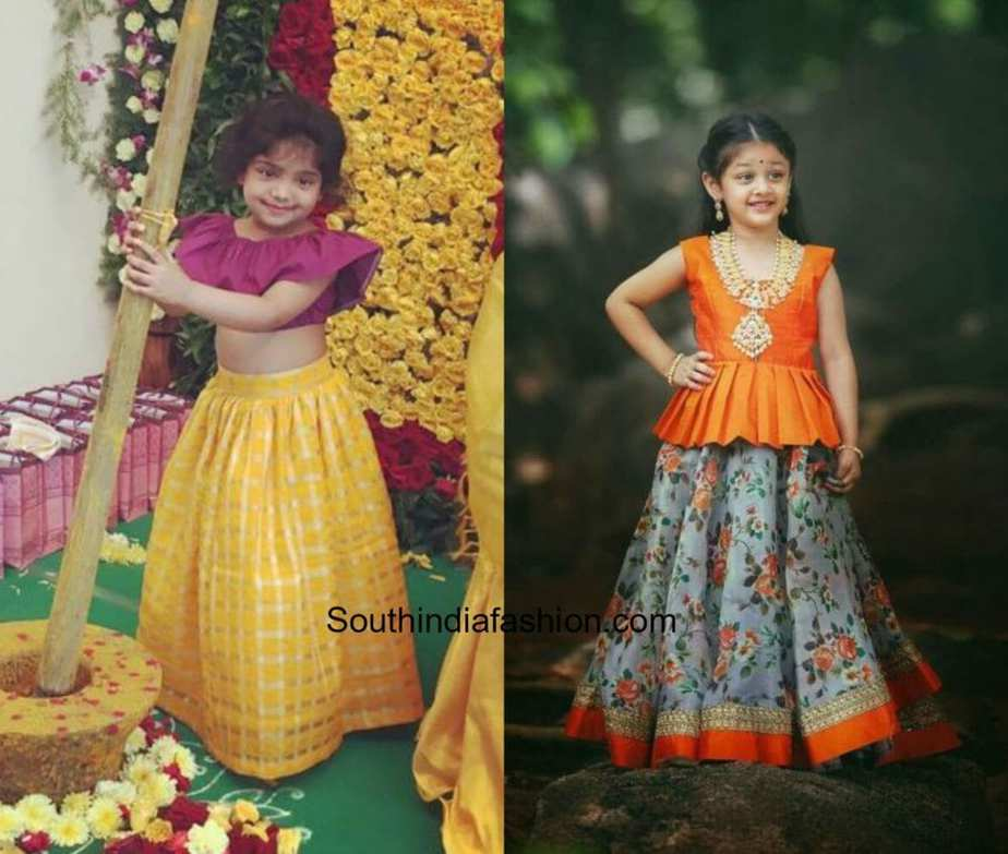 Kids Pattu Pavadai Designs South India Fashion