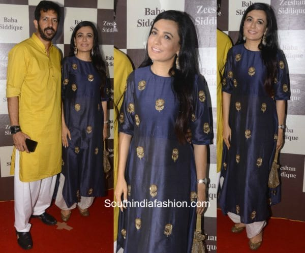 Mini Mathur in a kurta palazzo at Baba Siddiquis Iftar party 600x498