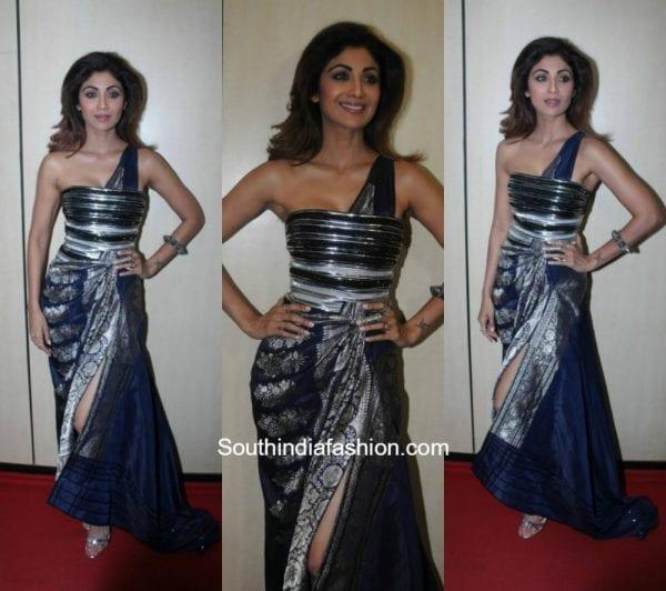Shilpa Shetty in Amit Aggarwal at Dadasaheb Phalke Awards 2017