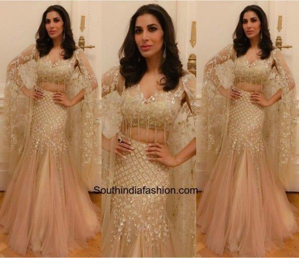 Sophie Choudary in Manish Malhotra 600x518