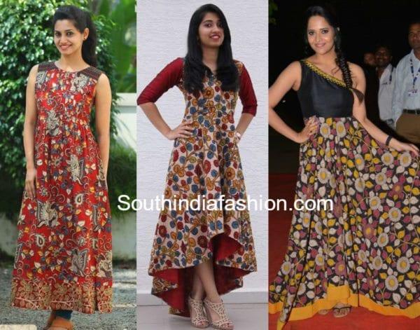 kalamkari gown models