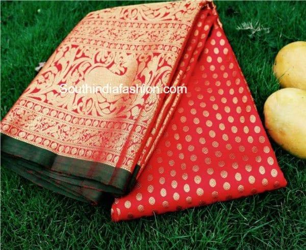 pattu saree with heavy border 600x491