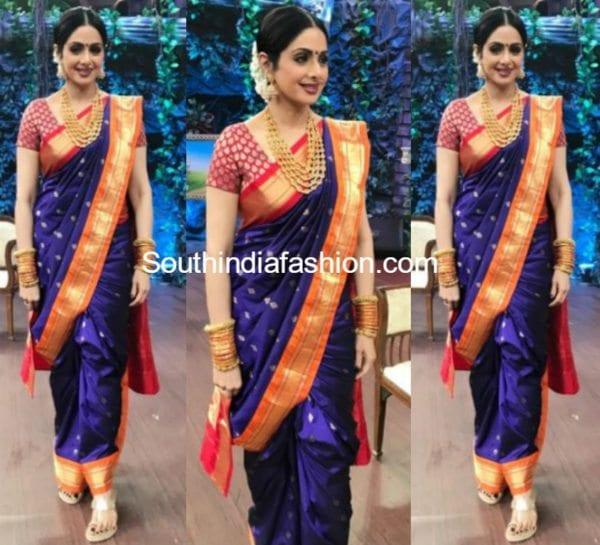 sridevi kapoor marathi style saree silk saree madhurya creations 600x545