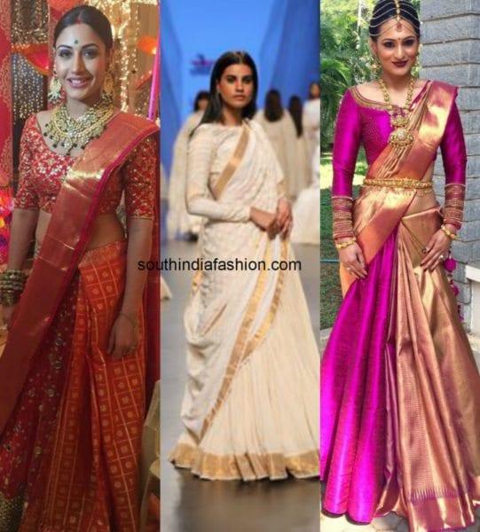 trendy saree styles
