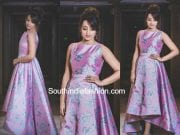 trisha krishnan jio filmfare awards south 2017 nishka lulla dress
