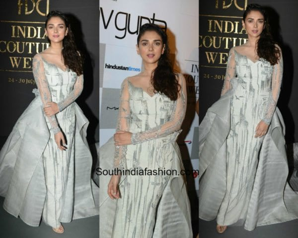 Aditi Rao Hydari in Gaurav Gupta at Indian Couture Week
