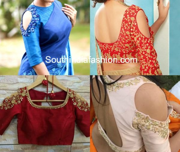 Hottest Trend Cold Shoulder Saree Blouse Designs South