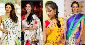 fun print sarees