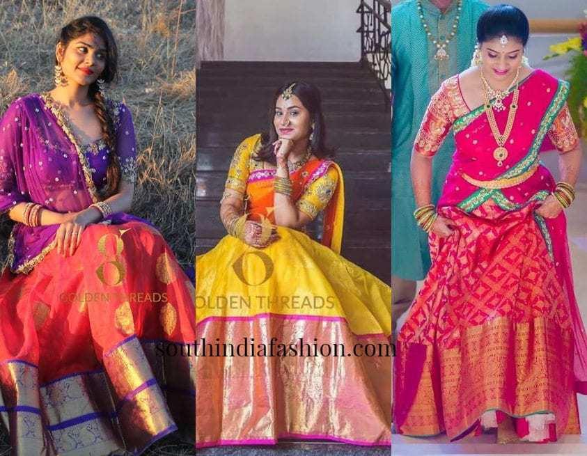 Opulent Half Sarees From Kavitha Gutta