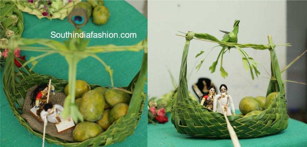 Coconut leaf wedding trays south india fashion indian wedding decoration junglespirit Image collections