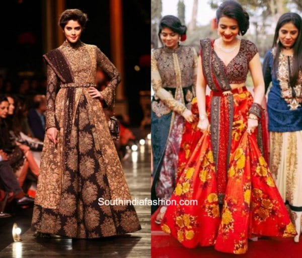 Lehengas with belts 1