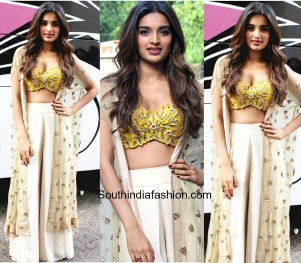 Niddhi Agerwal in Arpita Mehta for Munna Miachel Promotions