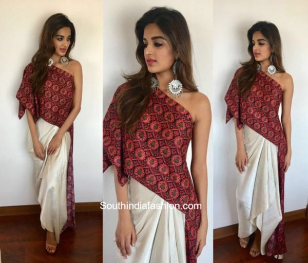 Nidhi Agerwal in Label Anoli Shah for Munna Miachel Promotions