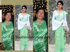 SAMANTHA PRABHU IN HER MOTHER SAREE