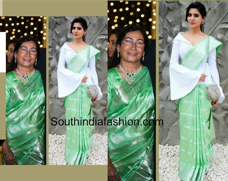 SAMANTHA PRABHU HANDLOOM SAREE JACKET BLOUSE