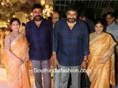 CHIRANJEEVI WIFE SUREKHA SAREE AT NTV CHAIRMAN DAUGHTER ENGAGEMENT