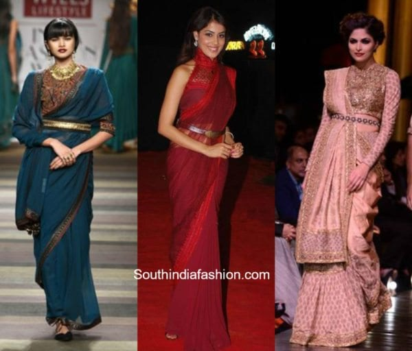 Sarees with belt