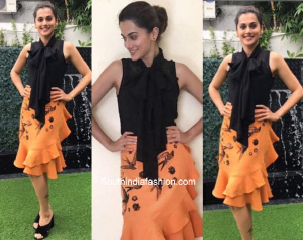 Taapsee Pannu in Kukoon The Label at Anando Bhrahma Promotions 600x476