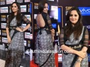 anchor anasuya saree siima 2017