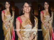 anchor anasuya traditional saree shyam prasad daughter wedding