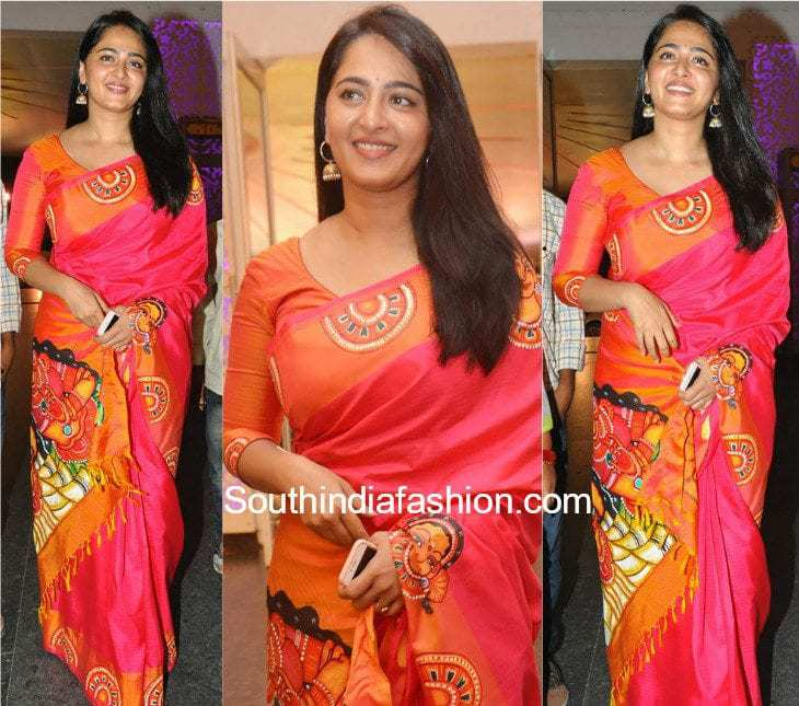 Anushka shetty in asha 39 s the mural south india fashion for Asha mural painting