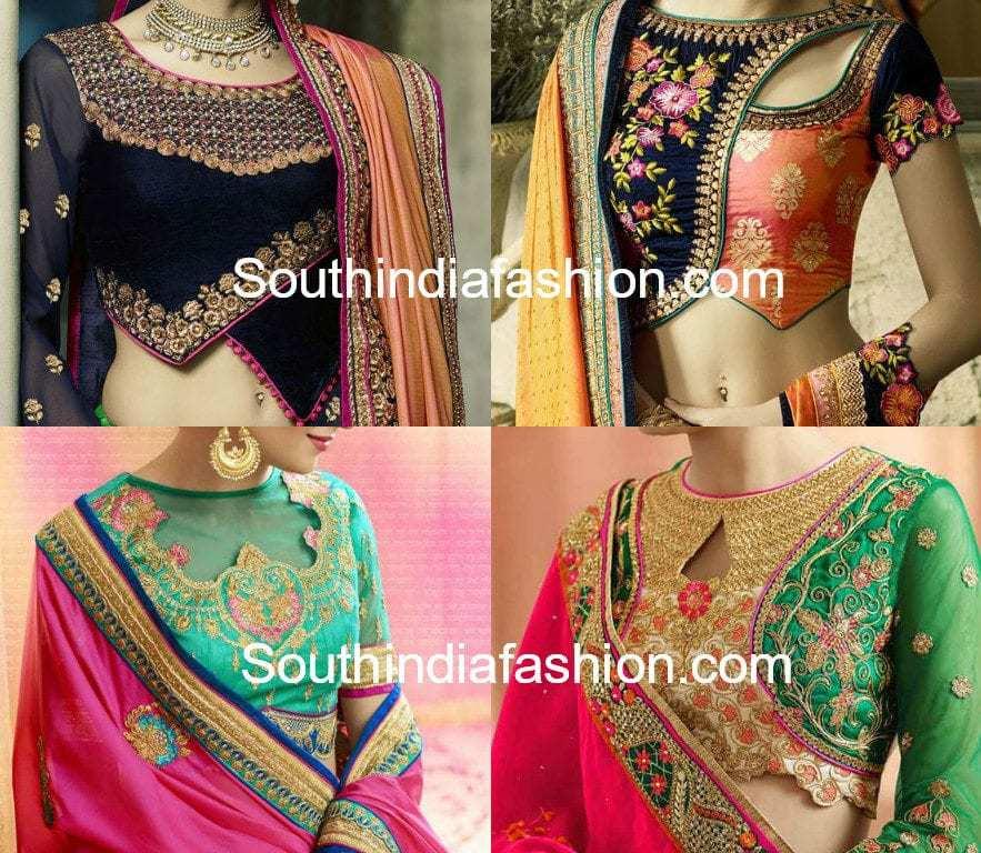 saree blouse front neck designs