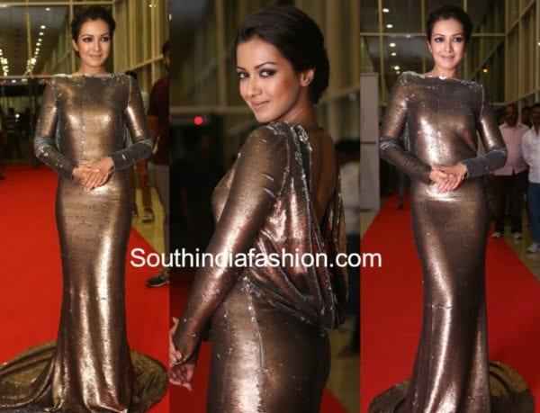 catherine tresa gown gautam nanda audio launch